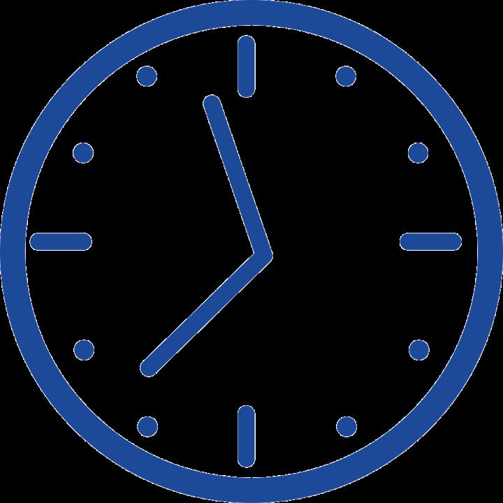 klok blauw